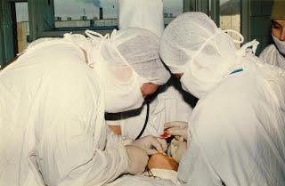 Оперирование поврежденного височно-нижнечелюстного сустава