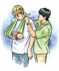 Фиксирующая повязка при травматическом повреждении конечности
